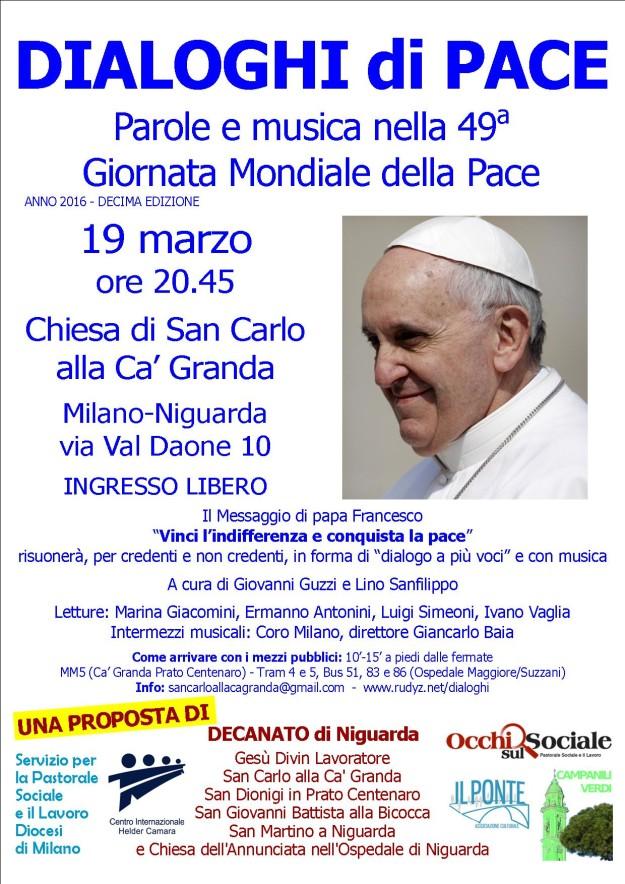 Dialoghi di Pace @ Chiesa di San Carlo alla Ca' Granda | Milano | Lombardia | Italia